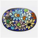 Floral Antique Pin/Brooch Copper 8.7g